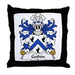 Gethin Family Crest Throw Pillow