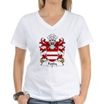 Foxley Family Crest Women's V-Neck T-Shirt