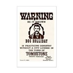 Doc Holliday Mini Poster Print