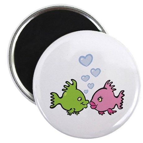 "Kissy Love Fish Valentine 2.25"" Magnet (10 pack)"