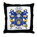 Dyfrig Family Crest Throw Pillow