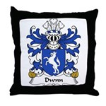 Dwnn Family Crest Throw Pillow