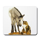 Mini Horses, and cat Mousepad