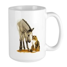 Mini Horses, and cat Mug