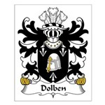 Dolben Family Crest Small Poster
