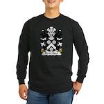 Dewi Sant Family Crest Long Sleeve Dark T-Shirt