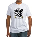 Dewi Sant Family Crest Fitted T-Shirt