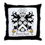 Dewi Sant Family Crest Throw Pillow