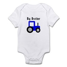 Big Brother Blue Tractor Infant Bodysuit