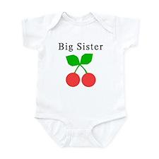 Big Sister Cherries Infant Bodysuit