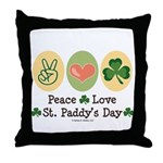 Peace Love St Paddy's Day Throw Pillow