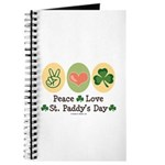Peace Love St Paddy's Day Journal