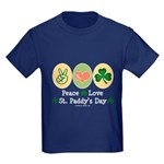 Peace Love St Paddy's Day Kids Dark T-Shirt