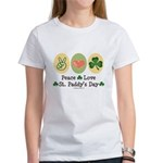 Peace Love St Paddy's Day Women's T-Shirt