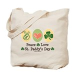 Peace Love St Paddy's Day Tote Bag