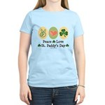 Peace Love St Paddy's Day Women's Light T-Shirt