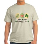 Peace Love St Paddy's Day Light T-Shirt