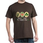 Peace Love St Paddy's Day Dark T-Shirt