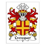 Crevequer Family Crest Small Poster