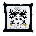 Cowryd Family Crest Throw Pillow
