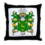 Coll Family Crest Throw Pillow