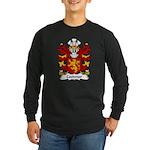 Coedmor Family Crest Long Sleeve Dark T-Shirt
