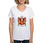 Coedmor Family Crest Women's V-Neck T-Shirt