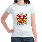 Coedmor Family Crest Jr. Ringer T-Shirt