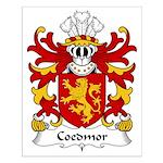 Coedmor Family Crest Small Poster