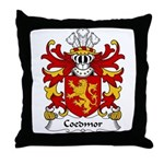 Coedmor Family Crest Throw Pillow