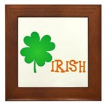 Irish Shamrock Framed Tile