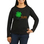Irish Shamrock Women's Long Sleeve Dark T-Shirt