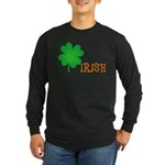 Irish Shamrock Long Sleeve Dark T-Shirt
