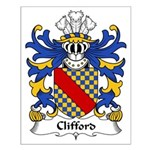 Clifford Family Crest Small Poster