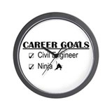 Civil Engineer Career Goals Wall Clock