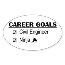 Civil Engineer Career Goals Oval Decal