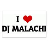 I Love DJ MALACHI Rectangle Decal