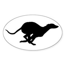 Running Silhouette Oval Decal