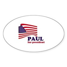Ron Paul for president Oval Decal