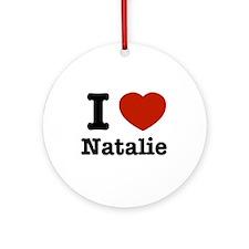 I love Natalie Ornament (Round)