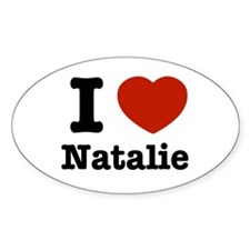 I love Natalie Oval Decal