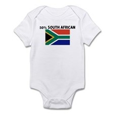 50 PERCENT SOUTH AFRICAN Infant Bodysuit