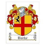 Burke Family Crest Small Poster