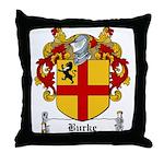 Burke Family Crest Throw Pillow