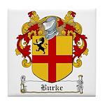 Burke Family Crest Tile Coaster