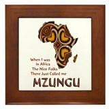 Mzungu - Framed Tile