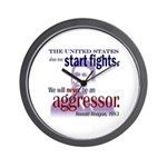 Ronald Reagan Never Aggressor Wall Clock