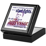 Ronald Reagan Never Aggressor Keepsake Box
