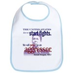 Ronald Reagan Never Aggressor Bib