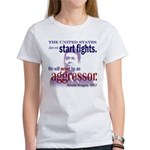 Ronald Reagan Never Aggressor Women's T-Shirt